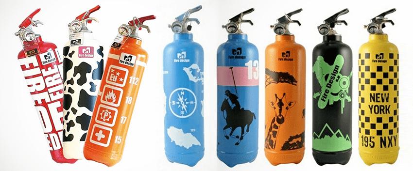 Стильные огнетушители от французской компании Fire Design