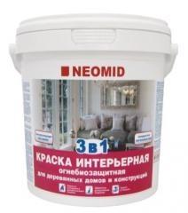 Огнезащитная краска для дерева НЕОМИД «Интерьерная» 5 кг
