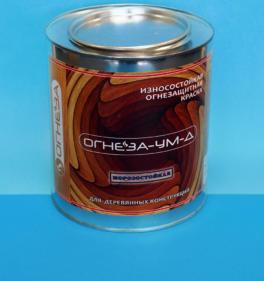 Огнезащитная универсальная морозостойкая краска для древесины ОГНЕЗА-УМ-Д 3 кг
