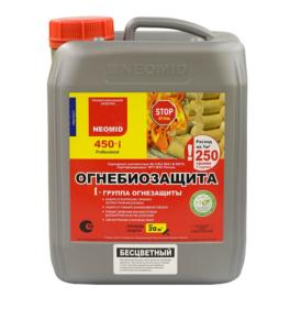 Neomid 450-i – огнебиозащита для дерева 1 и 2 группа, 5 кг