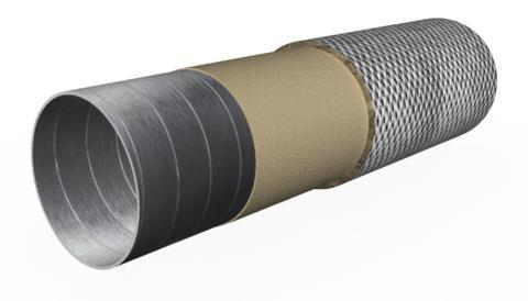 Огнезащитная конструктивная система для вентиляции
